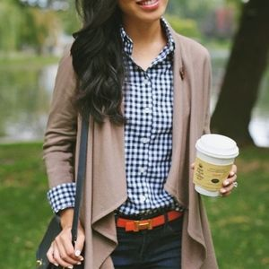 J. Crew Classic Button-Down Shirt in Navy Gingham